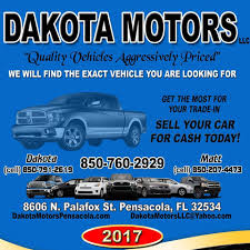Dakota Motors - Home | Facebook Ford Trucks In Pensacola Fl For Sale Used On Buyllsearch Inventory Gulf Coast Truck Inc 2009 Chevrolet Silverado 1500 Hybrid Crew Cab For Sale Freightliner Van Box 1956 Classiccarscom Cc640920 Cars In At Allen Turner Preowned Intertional Pensacola 2007 Ltz New Herepics Chevy 2495 2014 Nissan Nv 200 1979 Jeep Cj7 Near Beach Florida 32561