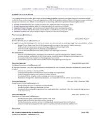 sle of administrative assistant resume lawyer objective