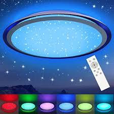 led deckenleuchte rgb dimmbar mit fernbedienung 3000k 6500k 24w oppearl sternenhimmel deckenle farbwechsel mit sternendekor für wohnzimmer