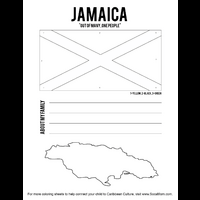 Flag Coloring Sheet Writing Activity S Jamaica Caribbean Culture For Kids