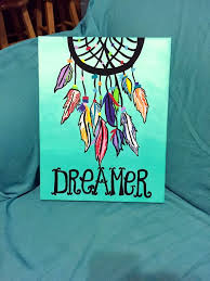 Dreamer Dreamcatcher Canvas Painting Check Out This Adorable Etsy Shop Words Of Bliss