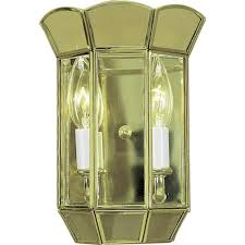 volume lighting 2 light polished brass interior wall sconce v5012