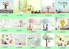 2016 New 3d Wall Stickers Home Decor Cartoon Animals Tree Branch Owl Birds Butterfly Panda Nursery