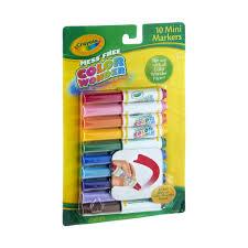 Crayola Bathtub Fingerpaint Soap by Crayola Mess Free Color Wonder Mini Markers 10 0 Ct Walmart Com