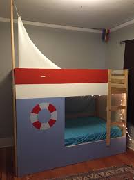 Mydal Bunk Bed by Mydal Bed Turned Sailboat Bed Ikea Hackers Ikea Hackers