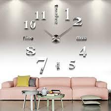 elektrisch 3d wanduhr wohnzimmer deko uhr wandtattoo zahl