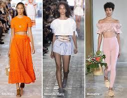 Spring Summer 2017 Fashion Trends Crop Tops