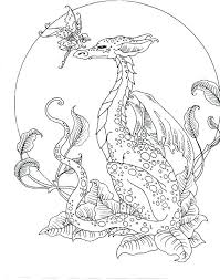 Dragon Coloring Pages For Adults As Amazing Image Result Free Fantasy Grown