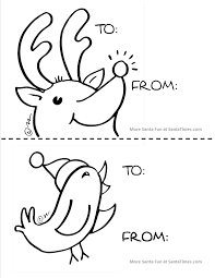 Large Reindeer Gift Tag For The Little Ones To Color Christmas More Fun Activities