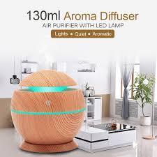 130 ml luftbefeuchter usb luftverteiler ultraschall luftbefeuchter aromatherapiegeraet mit aetherischem oel und siebenfarbigem licht fuer das buero im
