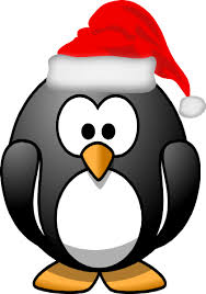 Christmas Penguin Clipart Black And White