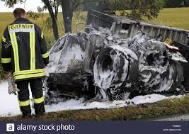 100 The Burnt Truck Stavenhagen Germany 29th Sep 2015 Burntout Wreck Of A Truck