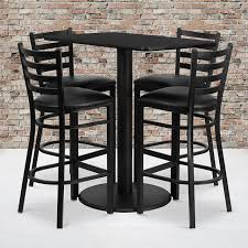 24'' X 42'' Rectangular Black Laminate Table Set With 4 Ladder Back Metal  Barstools - Black Vinyl Seat Flash Fniture 36 In Round Natural Laminate Table Set With Cosco Vinyl Folding Chairs Game Poker Teal Shacos Placemats For Dinner Of 6 Pvc Woven Mats Wipe Clean Heat Resistant6 Green Bamboo Grid Us 208 2015 Free Shipping Coffee Shop Wall Decal Tea Cafe Restaurant Decoration Chair Mural Art Stickerin Minimalist And Cool Scdinavian Ding Modern Room Small White Big Material Faux Detail Feedback Questions About 24 Kitchen Height Tables For Tray Cloth Foldable Combi Roller Venetian Blinds Curtains Carpet Roll Vinyl Sutton 3 Piece Spacesaver Bistro Glass Top And Padded