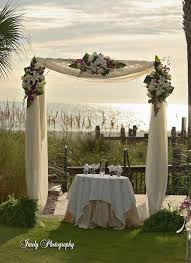This Arbor With White N Purple Flowers Rusts Is A Round How Would The Draping Look