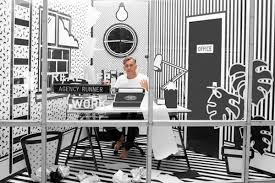 Is A Collaboration Among Ad Agency Wieden Kennedy London Graphic Designer Emily Alston And 3D Artist Laurie In Which They Create Pop Up Office Space