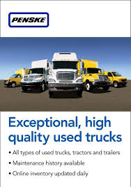 Penske Used Trucks Sells High-quality, Low-mileage Used Commercial ...