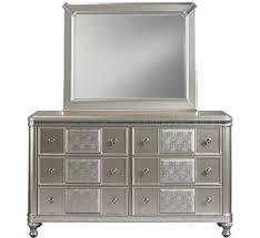 Badcock Bedroom Sets by Hefner Silver Dresser U0026 Mirror Badcock U0026more