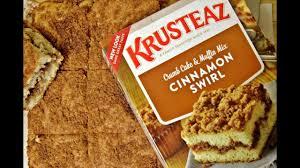 Krusteaz Pumpkin Pancake Mix Ingredients by Krusteaz Cinnamon Swirl Crumb Cake And Muffin Mix Youtube