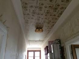 poser fibre de verre plafond peinture ou toile de verre sur plafond avec vieux papier pei 5