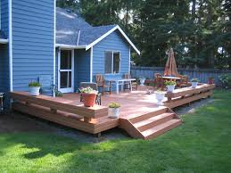 Patio And Deck Ideas For Small Backyards by Deck Ideas Like The Open Stairs Flower Box Bench Added To Square