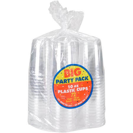 Amscan Big Party Pack Plastic Cups - Clear, 10oz