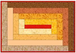 Rectangular Log Cabin Placemat Pattern