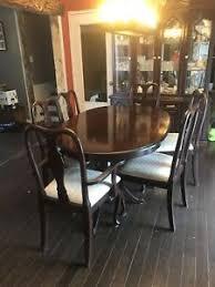 Hardwood Dinning Room Set 6chairs 2 Piece Hutch Table