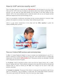 How Do VoIP Services Exactly Work .pdf - PDF Archive Services Intertional Callback Voip Service Providers Toll Voice Over Ip In South Africa 3cx Private Universe Best Vpnservicepointcom Hosted Voip Phone Systems For Small Business Modern Professional Flyer Design For Abrar Jussab By Esolz How To Get Free Through Google Obihai Remote Workers Dead Drop Software Pbx And Switch Compatibility List Thinq True Or Over Internet Protocol Allows One To Send Voice