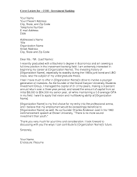 Investment Banking Intern Cover Letter How To Write