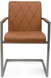 label51 stuhl oslo freischwinger kunstleder armlehnstuhl