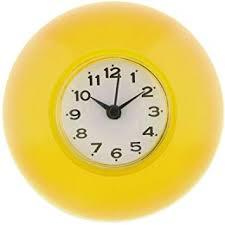 d dolity wasserfeste wanduhr badezimmer baduhr küchenuhr uhr saugnapf farbwahl gelb