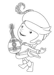 Mike The Knight Playing Guitar Coloring Page