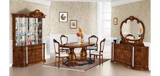 Flavia Pedestal Table Italian Classic Formal Dining Room Set