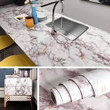 livelynine klebefolie marmor folie für möbel küchenarbeitsplatte fensterbank arbeitsplatte küche schminktisch deko laptop schrank tisch dekofolie