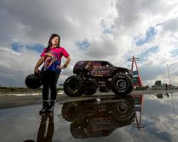 Monster Truck Driver Dawn Creten And Her Scarlet Bandit In Anaheim The