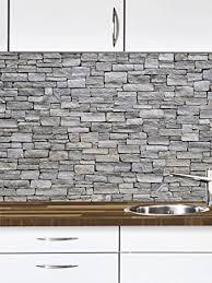 graue steine küchen deko küchennische schmutz resistent abewaschbar mit erweiterung foto tapete wand deko wand bild wand wand sticker