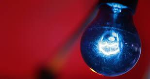 blue bulb l illuminating artificial light closeup filament