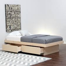 twin xl platform bed storage modern storage twin bed design