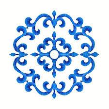 ceramic tile floor medallions medallion blue kitchen floor tiles