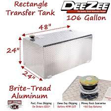 100 Dee Zee Truck Accessories DZ91753 Aluminum Fuel Transfer Tank Rectangle 106
