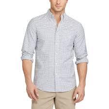 chaps classic fit plaid stretch oxford button down shirt
