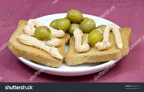 pate canapes salmon pate canapes on light purple stock photo 51338110