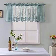 feiliandajj 130x41cm voile vorhang kurz küche transparent spitze atmungsaktiv waschbar gardinen vorhänge wohnzimmer schlafzimmer kinderzimmer modern