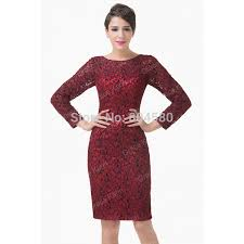 sheath short lace applique mother of the bride dress long sleeve