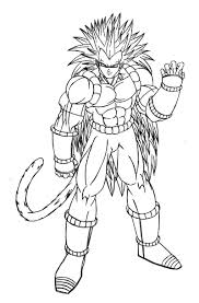 Coloriage Dragon Ball Z Sangoku Super Sayen Divin Noticiadocom