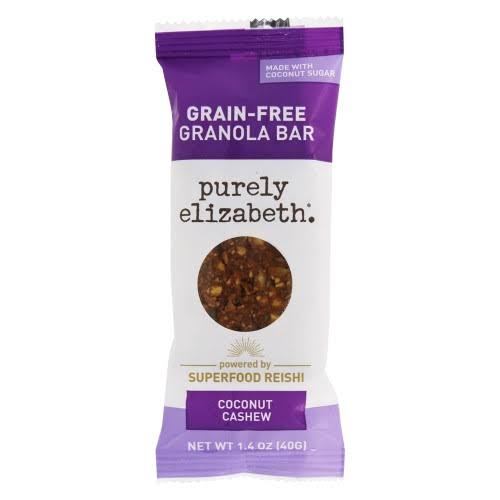 Purely Elizabeth Bar, Grain-Free, Coconut Cashew + Reishi - 1.4 oz