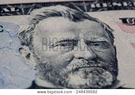 Closeup Of Ulysses S Grant Portrait On 50 Dollar Bill