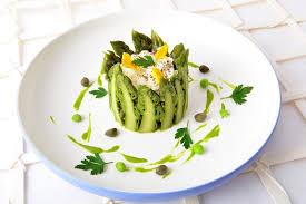 cuisine asperge dariole d asperges vertes en mousse wasabi cueillettes et cuisine