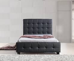 Black Leather Headboard Single by Pu Leather King Single Bed Frame And Button Tufted Headboard