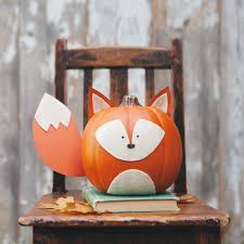 Ways To Carve A Pumpkin Fun by Woodland Creature No Carve Pumpkins Foxes Woodland Creatures